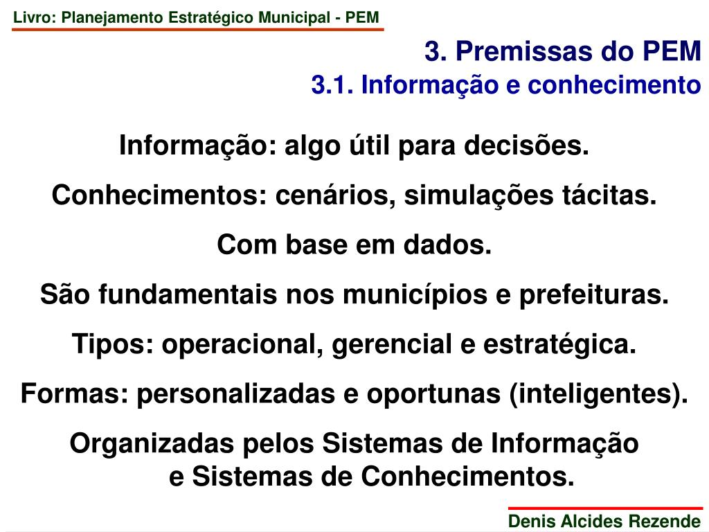 3. Premissas do PEM