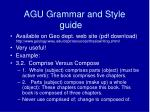 agu grammar and style guide