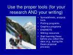 use the proper tools for your research and your writing