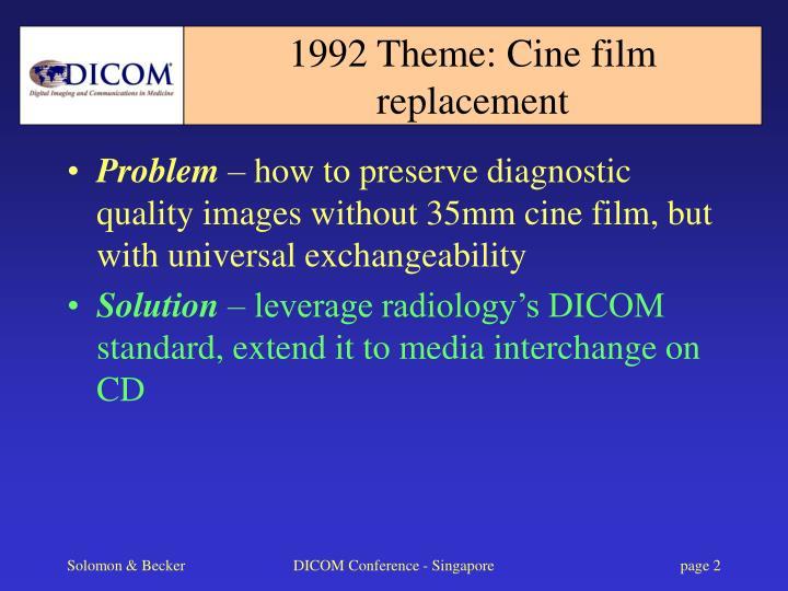 1992 theme cine film replacement