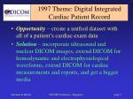 1997 theme digital integrated cardiac patient record