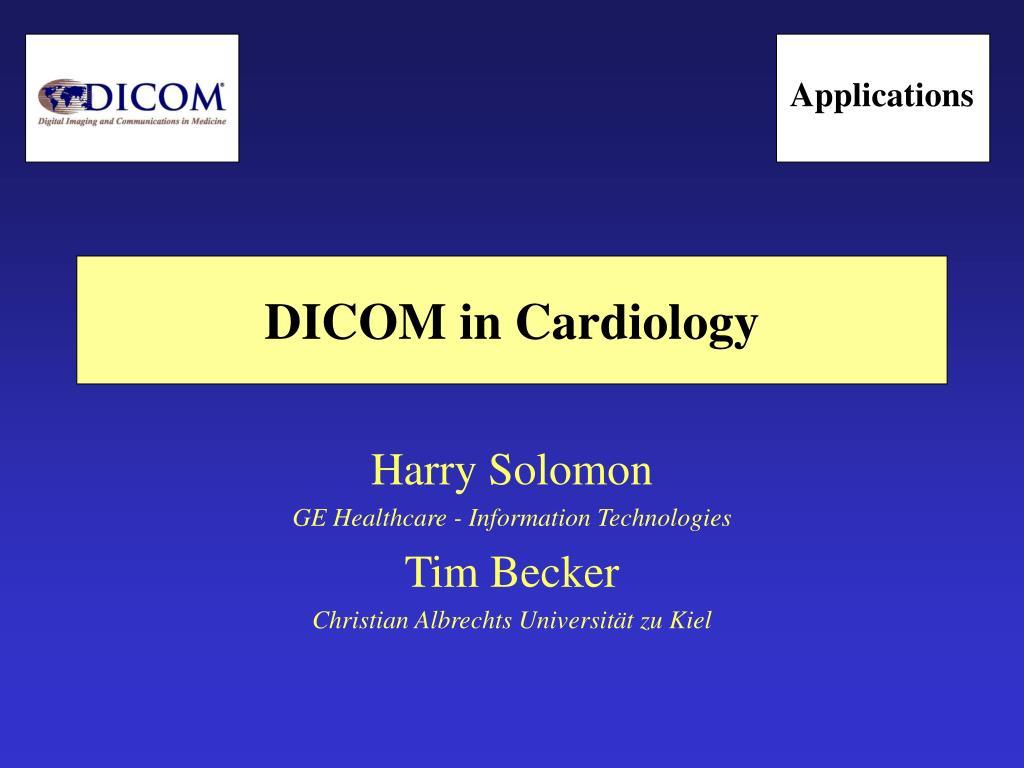 dicom in cardiology l.
