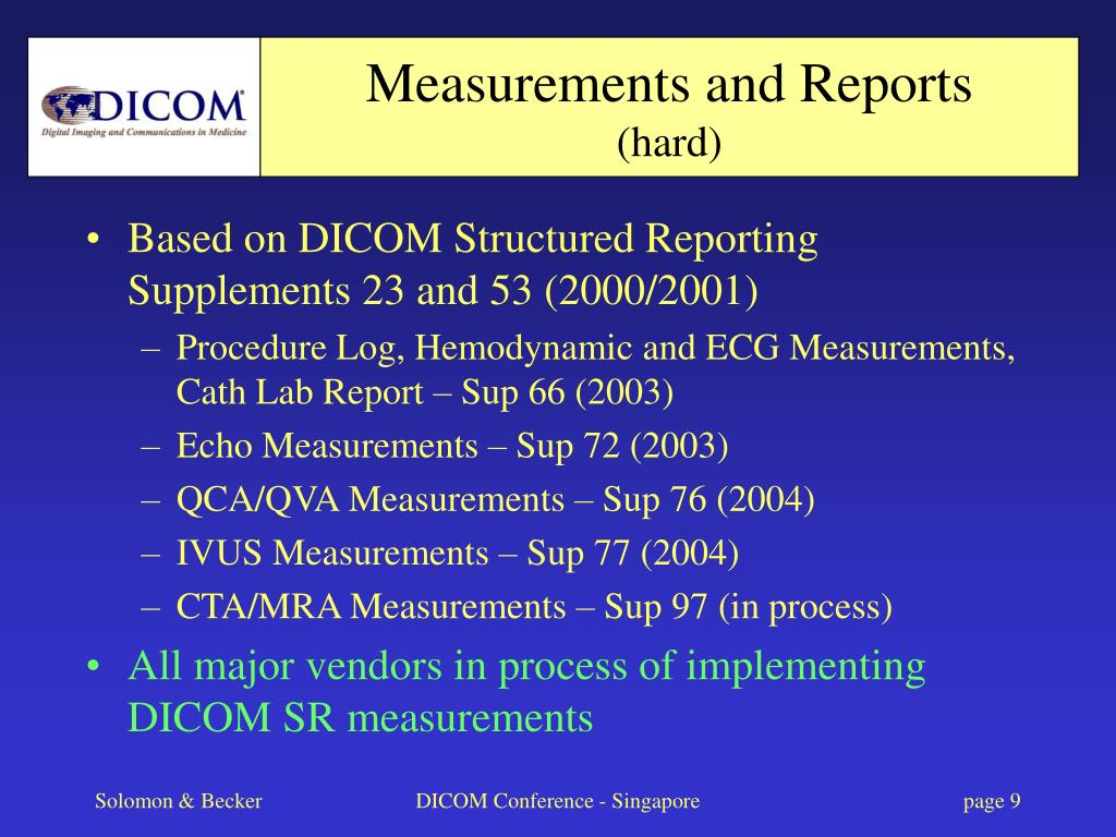 Measurements and Reports