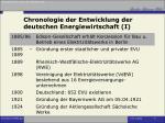chronologie der entwicklung der deutschen energiewirtschaft i