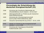 chronologie der entwicklung der deutschen energiewirtschaft ii
