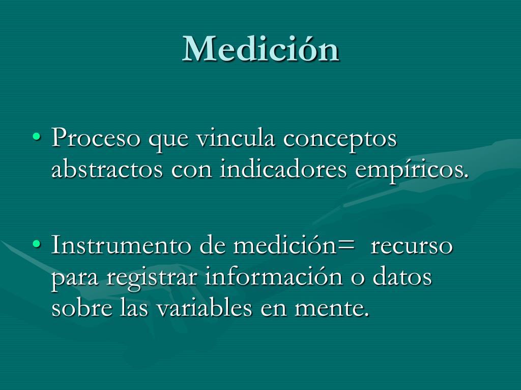 Medición