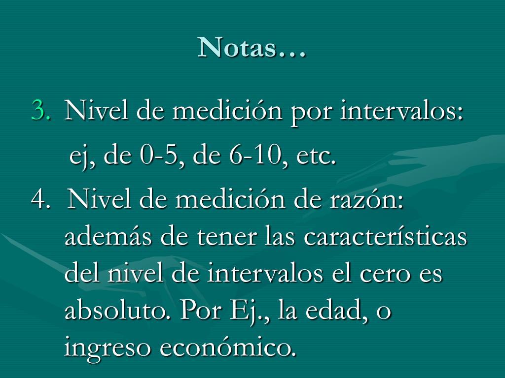 Notas…