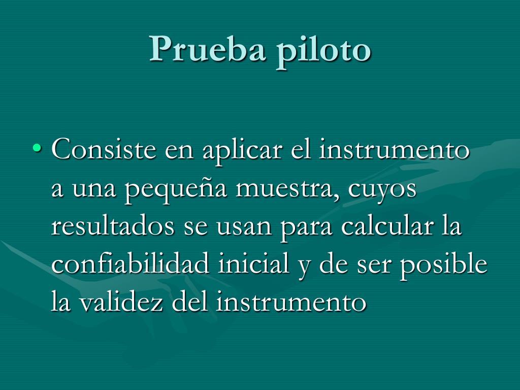 Prueba piloto
