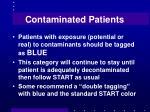 contaminated patients