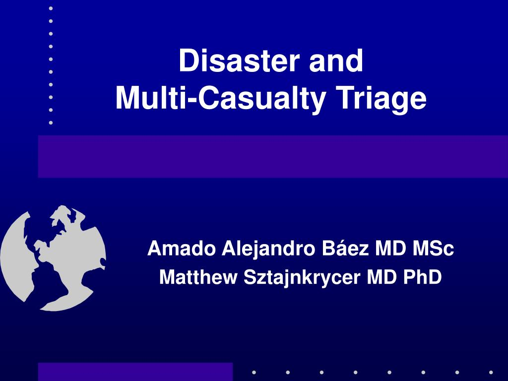 disaster and multi casualty triage l.