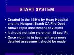 start system