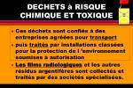 dechets risque chimique et toxique