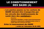 le conditionnement des dasri 4