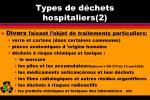 types de d chets hospitaliers 2
