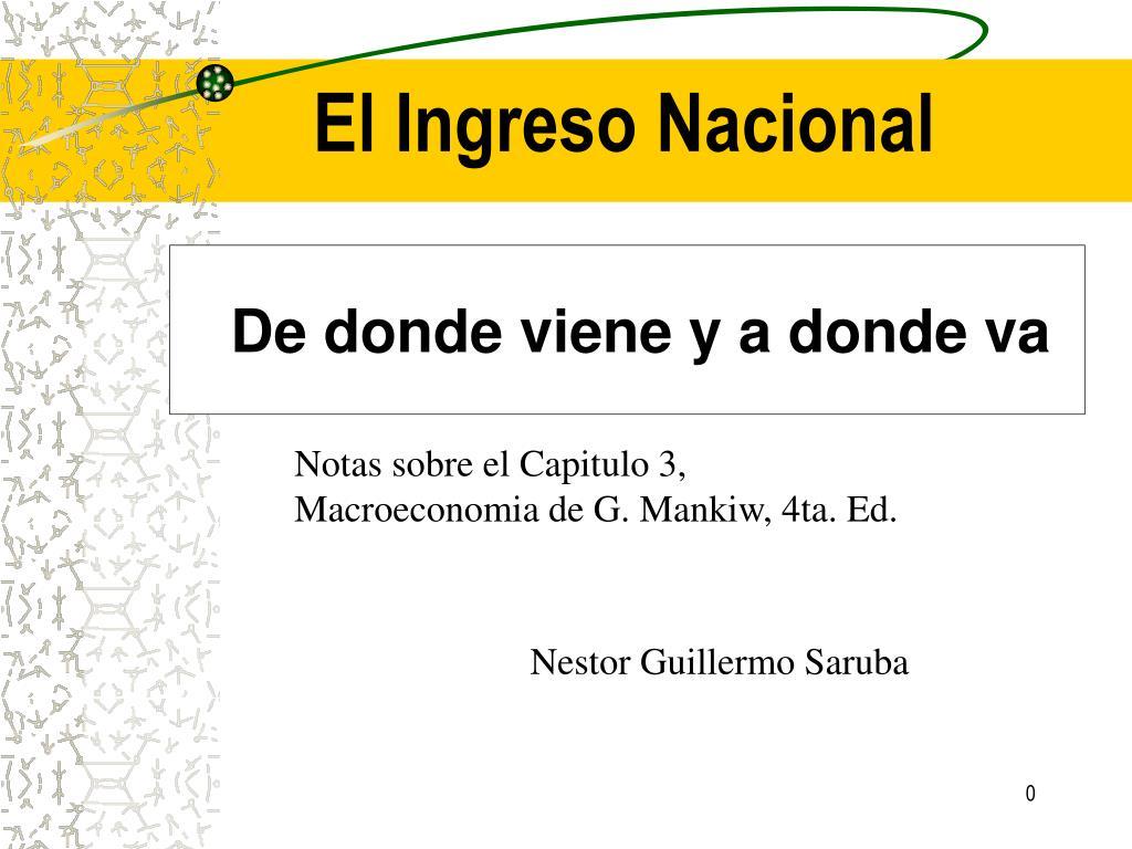 el ingreso nacional l.