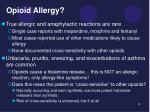 opioid allergy