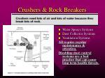 crushers rock breakers