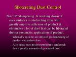 shotcreting dust control