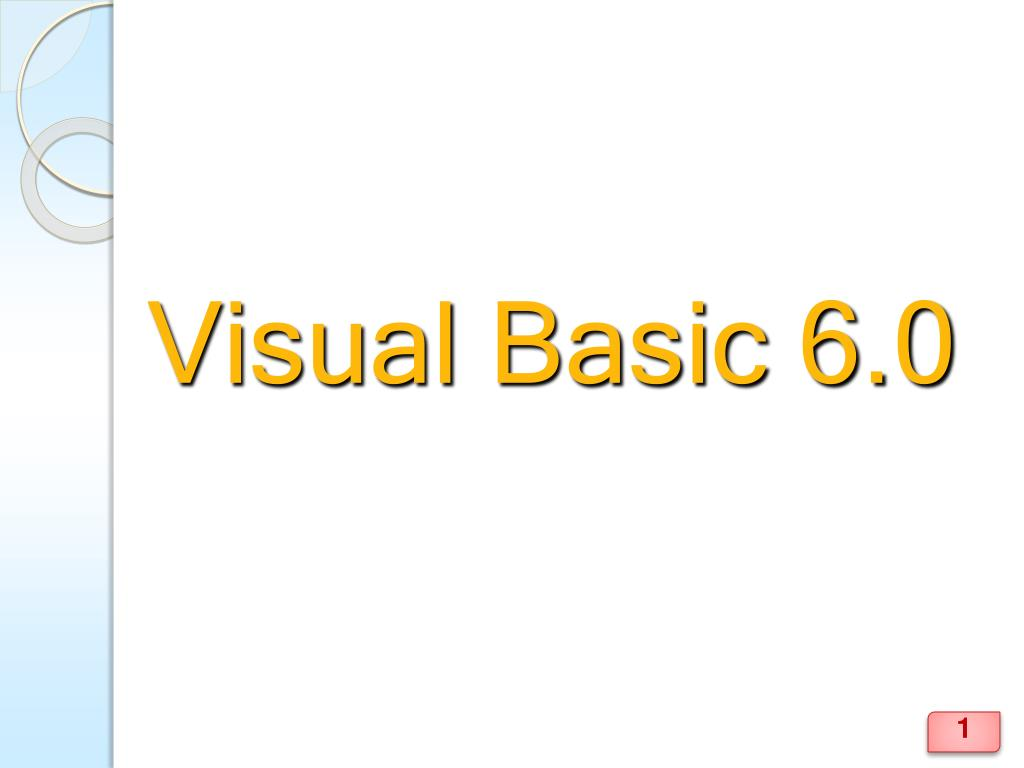 visual basic 6 0 l.