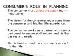 consumer s role in planning