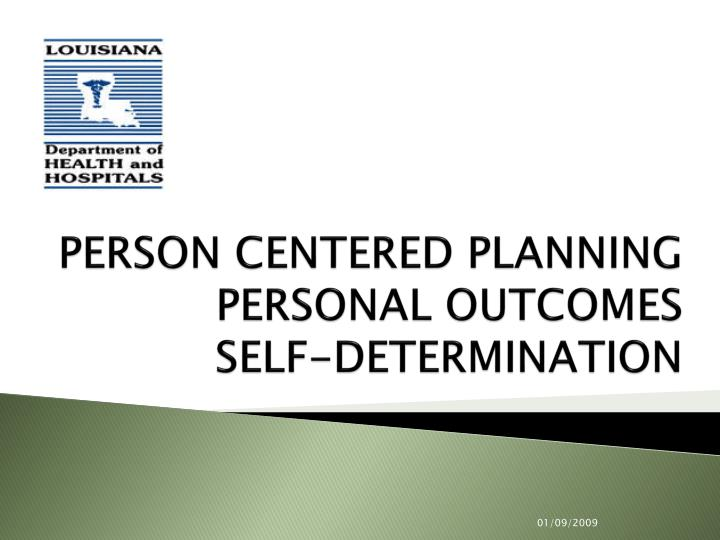 person centered planning personal outcomes self determination n.