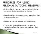 principles for using personal outcome measures22