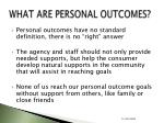what are personal outcomes15