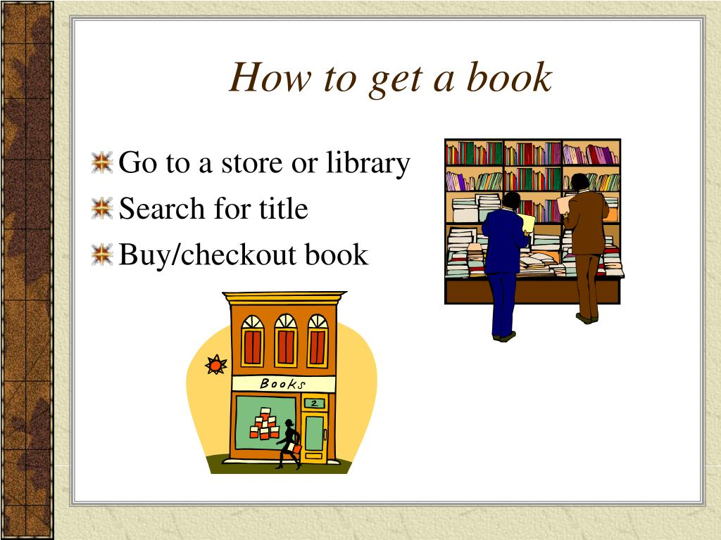 How to get a book