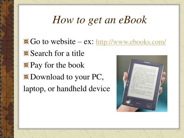 How to get an ebook