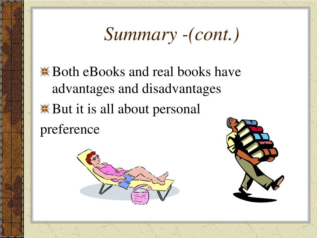 Summary -(cont.)