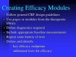 creating efficacy modules