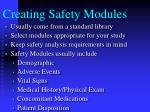 creating safety modules