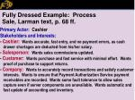 fully dressed example process sale larman text p 68 ff