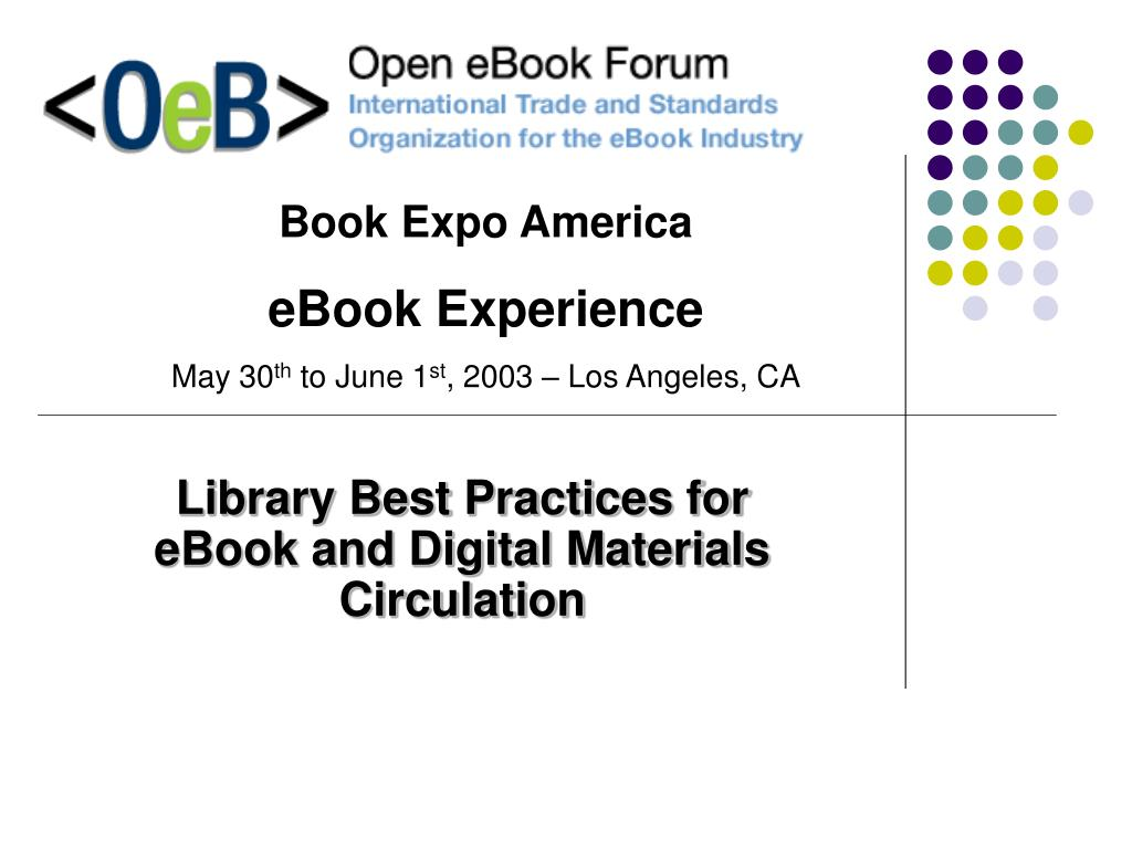 library best practices for ebook and digital materials circulation l.