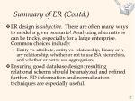 summary of er contd22