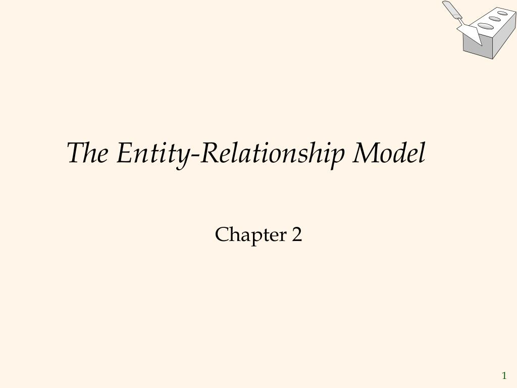 the entity relationship model l.
