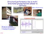 structural performance due to multi directional ground motions glaser caltech