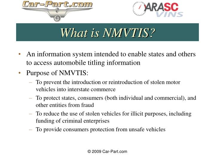 What is nmvtis