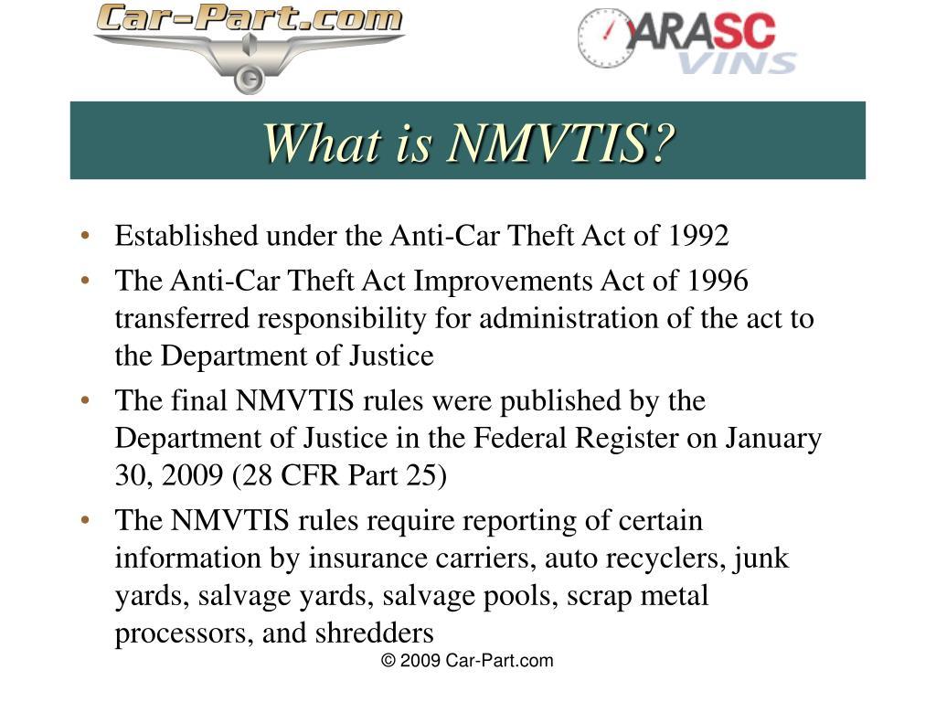 What is NMVTIS?