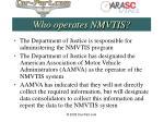 who operates nmvtis