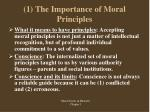 1 the importance of moral principles