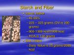 starch and fiber42