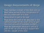 design requirements of hinge