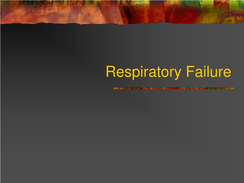 respiratory failure l.