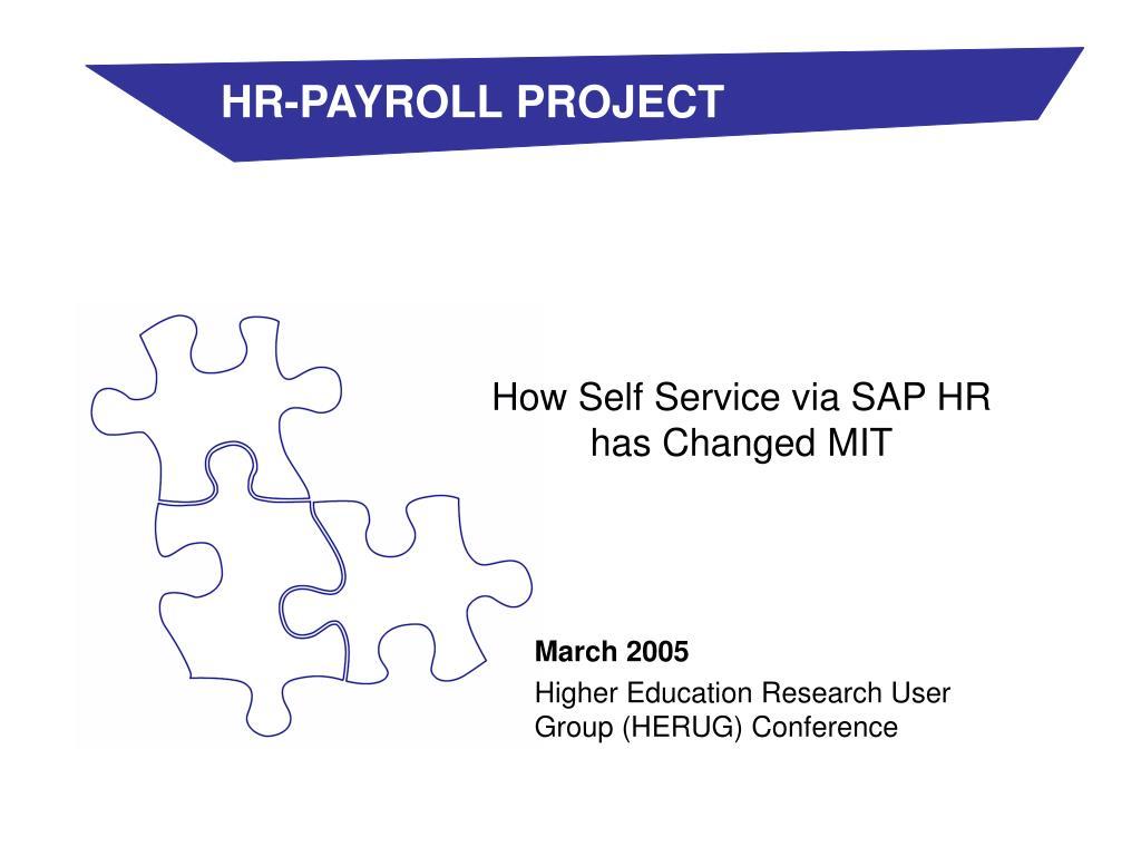 how self service via sap hr has changed mit l.