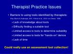 therapist practice issues13