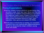 the context affecting attitudes behaviors rising expectations
