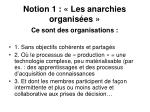 notion 1 les anarchies organis es