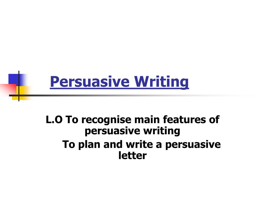 persuasive writing l.
