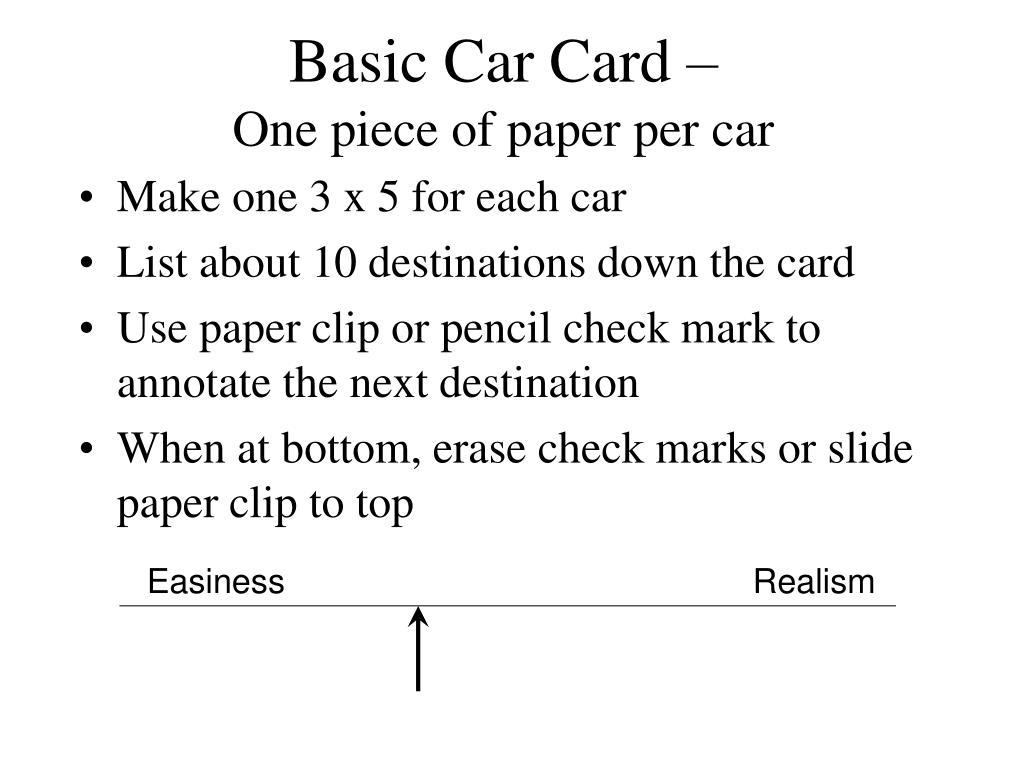 Basic Car Card –